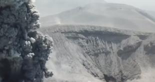 Shinmoe-dake: Drohne filmt Vulkanausbruch in Japan