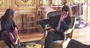 """Und hoch das Bein… französischer Präsidenten-Hund """"Nemo"""" zeigt nur wenig Contenance"""