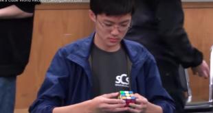 Junger Koreaner knackt den Zauberwürfel in 4.59 Sekunden