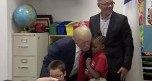 Viralvideo von Trumps Schulbesuch entpuppt sich als Fake